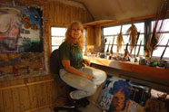 Reeba in her studio